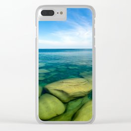 Lake Superior Rock Paradise Clear iPhone Case