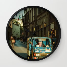 Busy Florence Streets Wall Clock