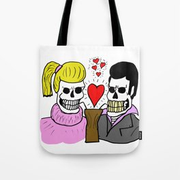 Trisha Oso and Biff Moonguts Perished As They Lingered Over Their First Shared Malted At The Diner. Tote Bag