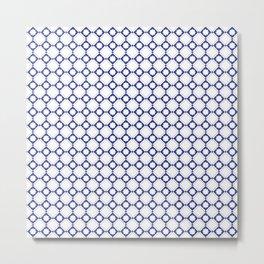 blue oriental pattern - seamless design orient style Metal Print