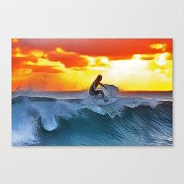 SurferKing Canvas Print