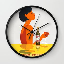 Vintage Italian Alcohol Advertising Poster Retro Ads Poster Wall Clock