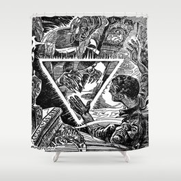 The Triangle of Terror Shower Curtain
