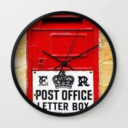 Old British Post Box Wall Clock
