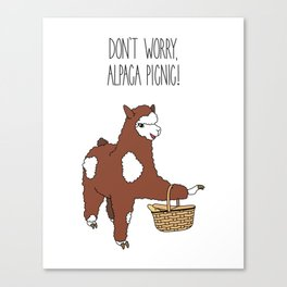 Don't Worry, Alpaca Picnic! Canvas Print