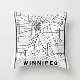 Winnipeg Light City Map Throw Pillow