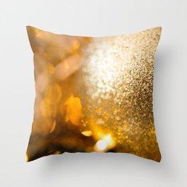 Golden Cheer II Throw Pillow