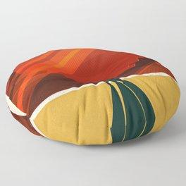 Vintage Adventure Travel Phobos and Deimos Floor Pillow