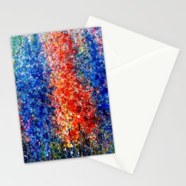 Eternal Spring Abstract Painting Stationery Cards