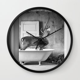 Lost places wildlife Wall Clock