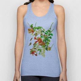 Ruby-throated Humming Bird Unisex Tank Top