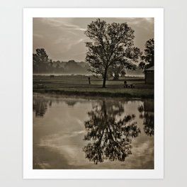 crab orchard wildlife refuge in Southern Illinois Art Print
