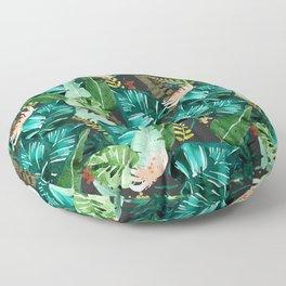 Tropical Dark Floor Pillow