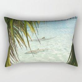sharks in the ocean Rectangular Pillow