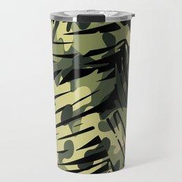 Palm camouflage pattern Travel Mug