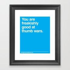 Thumb Wars Framed Art Print