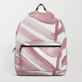 Pink Palm Leaf Crop Backpack