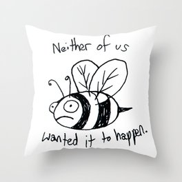 Anxiety Bee Throw Pillow