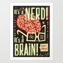 It's a nerd! It's a brain! by alphabinocular