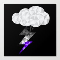 asexual Canvas Prints featuring Asexual Storm Cloud by Casira Copes