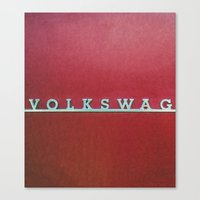volkswagen Canvas Prints featuring VolkSWAGen by Ren Davis