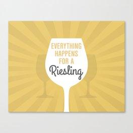 Wine Humor Riesling Canvas Print