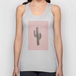 Feeling Prickly - Cactus Print in Peach Unisex Tank Top