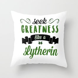 seek greatness Throw Pillow