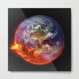 Global Warming Climate Change Metal Print