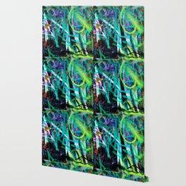 graffiti blue Wallpaper