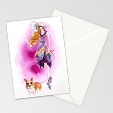 Vintage Fashion Corgi Stationery Cards