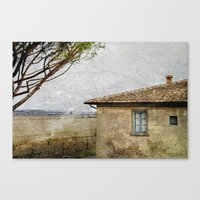 italian Canvas Prints featuring Italian Farm by BlueMoonArt