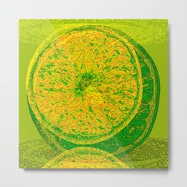 Lime And Orange Summer Cocktail Metal Print