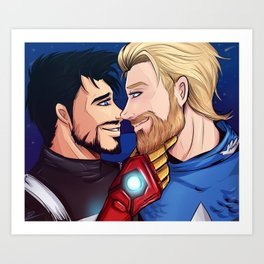 beard boyfriends Art Print