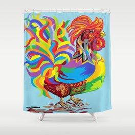 Fiesta Rooster Shower Curtain