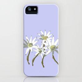 Flannel Flowers Actinotus helianthi iPhone Case