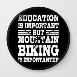 MOUNTAINBIKE MTB Funny Cycling Gift Bicycle Rider Wall Clock