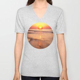 Sunrise Over Ocean Unisex V-Neck