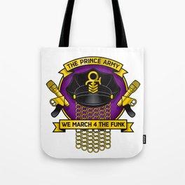 TPA Crest - We March 4 The Funk (Reverend design #2) Tote Bag