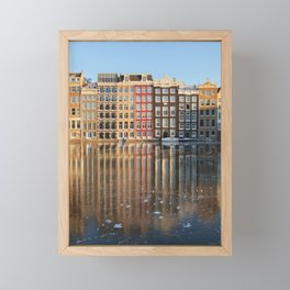 Facades Dutch canal houses Amsterdam Netherlands photo Fine Art Print Framed Mini Art Print