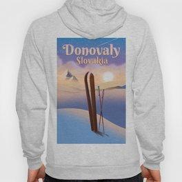 Donovaly Slovakia ski poster travel poster. Hoody