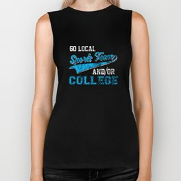 Go Local Sports Team And/Or College Distressed Biker Tank