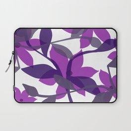 Flower leaves pink violet white Laptop Sleeve