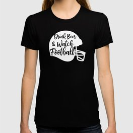 Drink Beer And Watch Football Distressed Player Sports Team T-shirt