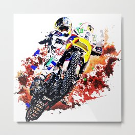 dirt bike Metal Print