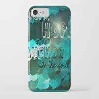 verse iPhone & iPod Cases featuring Anchors- Bible Verse by Mermaid94