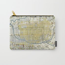 Japanese woodblock map of Kyoto, Japan, 1696 Carry-All Pouch