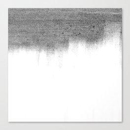 Urban Concrete White Wash Canvas Print