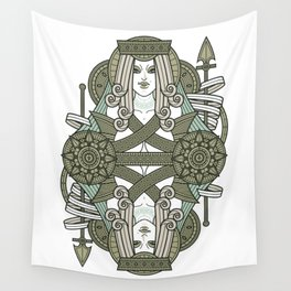 SINS Mentis - Pride Queen of Spades Wall Tapestry