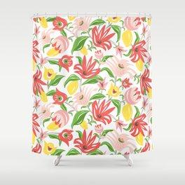 Island Garden Floral Shower Curtain